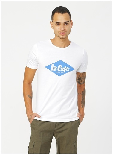 Lee Cooper Lee Cooper 242008 Beyaz Erkek T-Shirt Beyaz